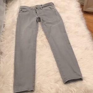 AG slim strength ankle gray jeans